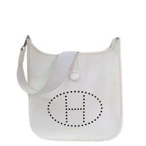 Hermès Birkin Kelly Gypsiere White Messenger Bag