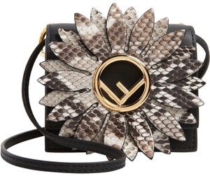 Fendi Python Mini Kan Logo Mini Kan Cross Body Bag