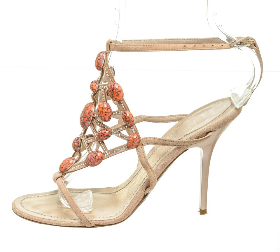 Sandals Suede Caovilla Embellished Nude 482743 Rene 36 WAPq0nA8