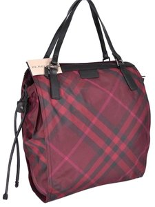 Burberry Travel Plaid Tote in Red check