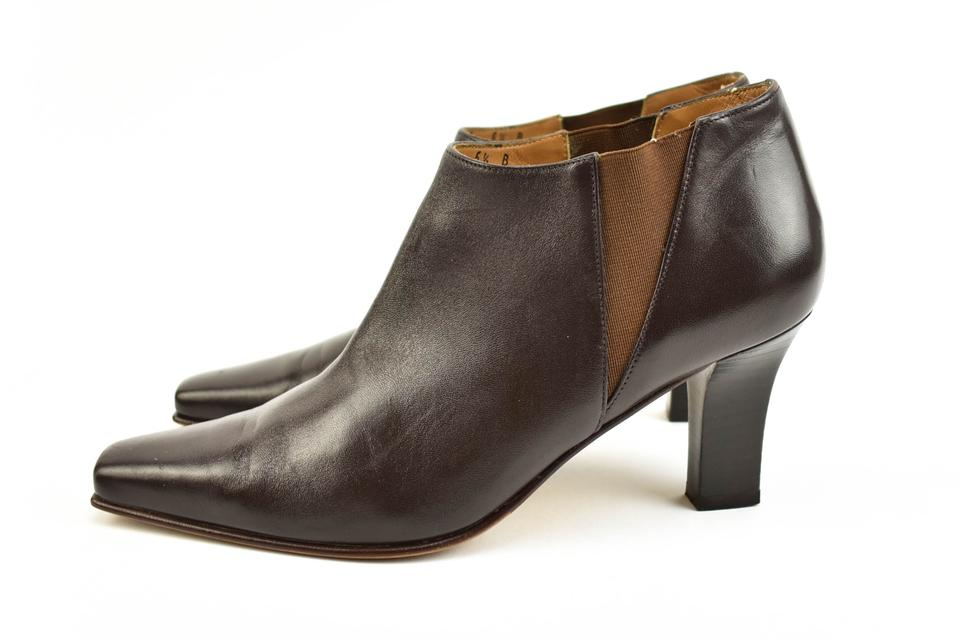 Dark Booties Brown Ferragamo Ankle Salvatore Boots SYw50xZq