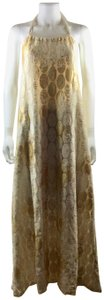 Ivory Gold Maxi Dress by BY. Bonnie Young