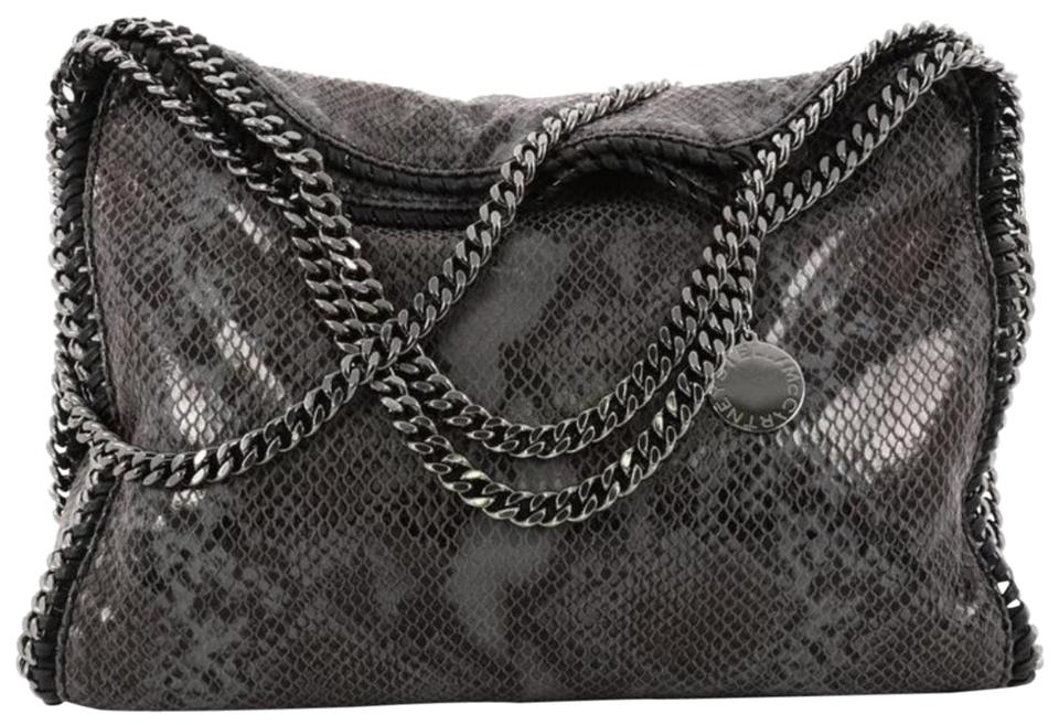 cfecee60635a Stella McCartney Falabella Fold Over Python Gray Faux Leather Hobo ...