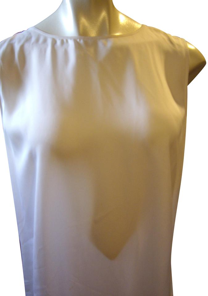81d0aab052d2c Vince White Silk Cross Back Tank Vince Tank Top Cami Size 8 (M ...
