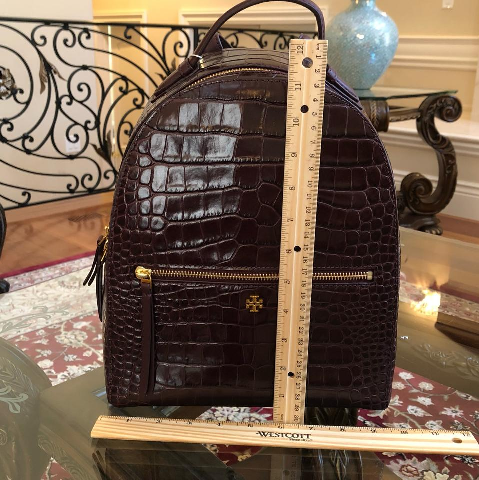 Port Backpack Burch Croc Leather Embossed Mini Tory w0IaqFn