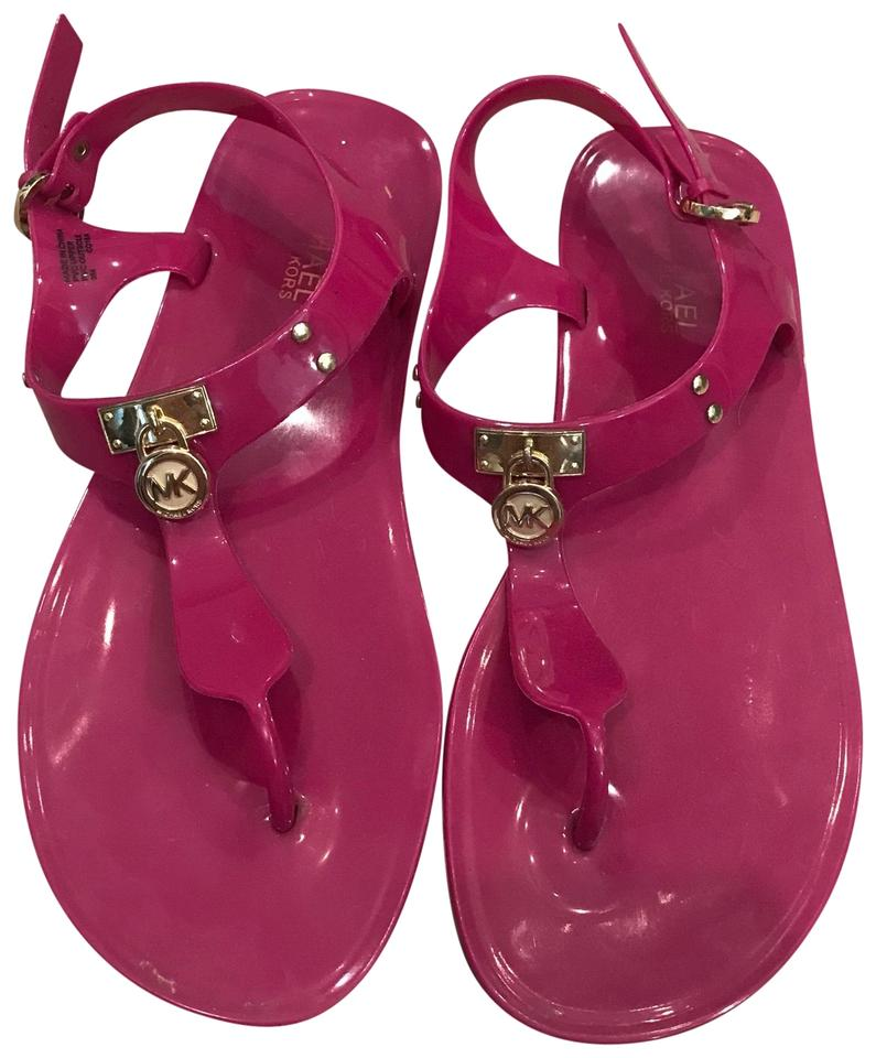 1e4c8edae55 Michael Kors Pink Jelly Sandals Size US 9 Regular (M