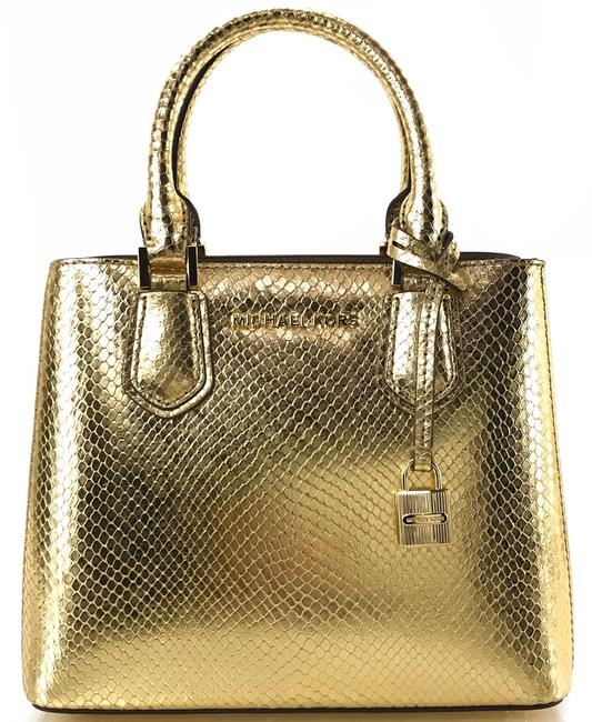 Item - Shoulder New Adele Medium Gold Embossed Leather Messenger Bag