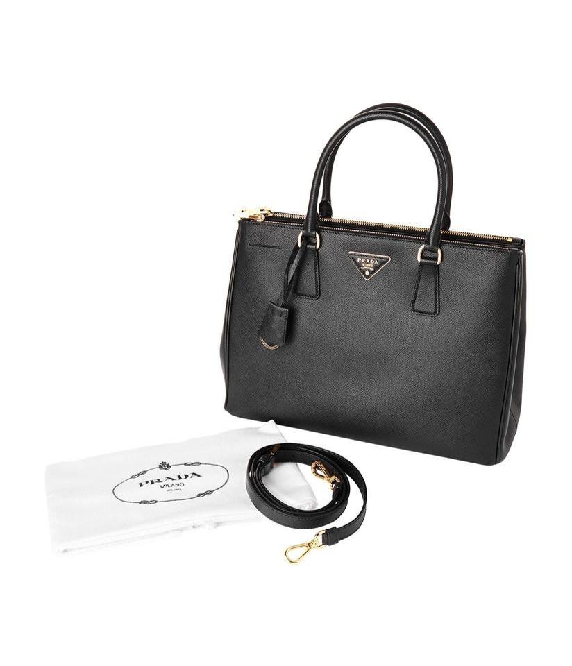 Prada Galleria Medium Saffiano (32956) Black Leather Tote - Tradesy 88ee5afb339df