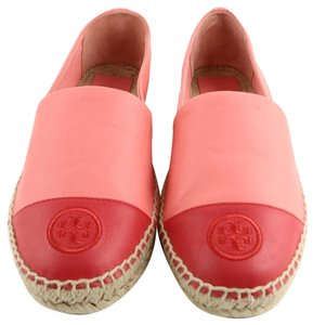 Tory Burch Size 11 Hot Coral/Vermillion Flats