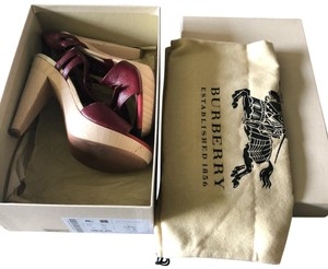 Burberry burgundy and blue Sandals