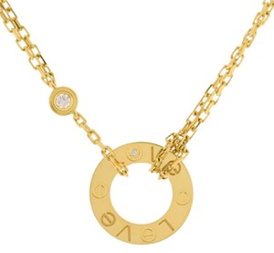 Cartier LOVE NECKLACE, 2 DIAMONDS YELLOW GOLD, DIAMONDS