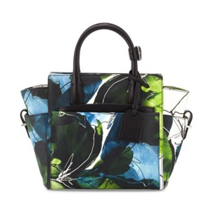Reed Krakoff Satchel In Blue White Green And Black