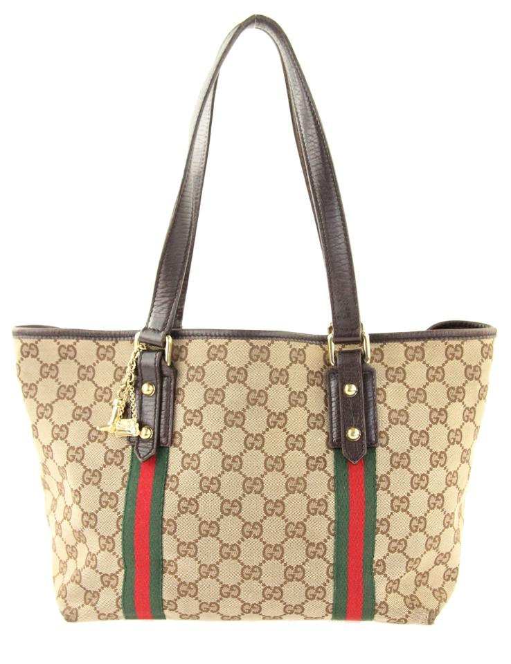 80a5ed75f1b8 Gucci Jolicoeur Small Gg Brown Canvas Tote - Tradesy