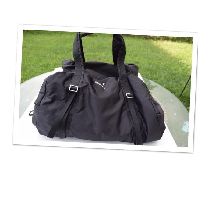 Item - Duffle Black Nylon Weekend/Travel Bag