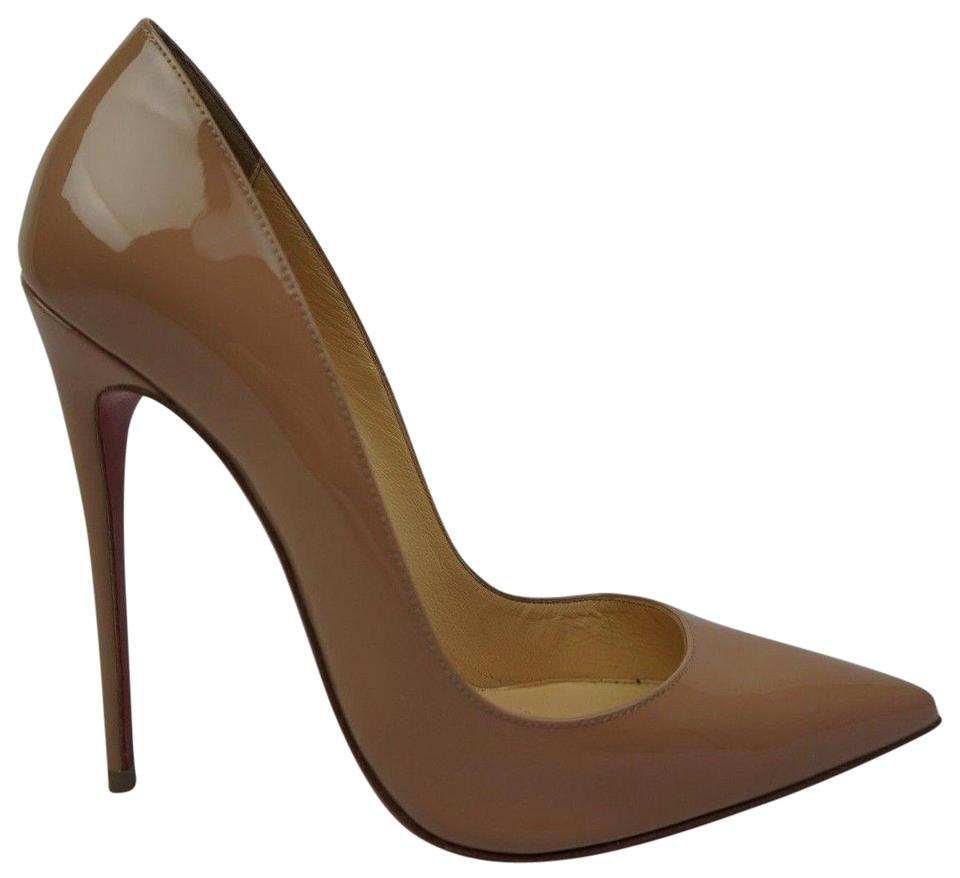 a440fb4b05a4 Christian Louboutin Nude So Kate 120 Mm Patent Leather Heels Pumps ...