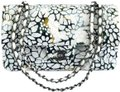 Chanel Tweed Floral Chain Front Flap Shoulder Bag