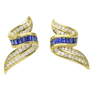 Charles Krypell Charles Krypell Sapphire and Diamond 18k Yellow Gold Earrings