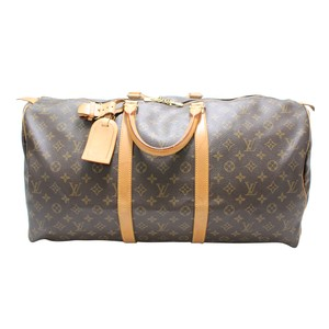 7d706d5276a3 Louis Vuitton Bandouliere Lv Mono Duffle Boston Brown Travel Bag