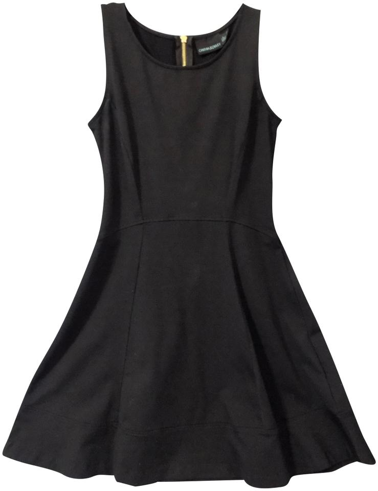 d779a3c21a85ac Cynthia Rowley Black 59478 Stretch Fitted Mid-length Night Out Dress ...