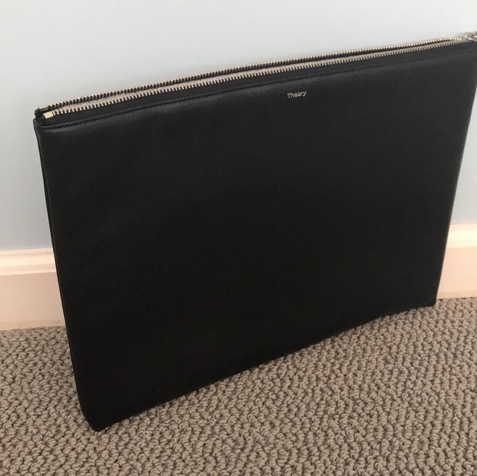 Leather Theory Clutch Leather Black Clutch Black Black Leather Theory Theory x77wEgq1