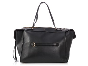 Céline Leather Ring Ce.p0712.06 Reduced Price Satchel in Black