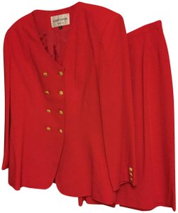 Albert Nipon Albert Nipon red suit (jacket and skirt)
