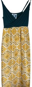 Green Yellow Maxi Dress by Anthropologie