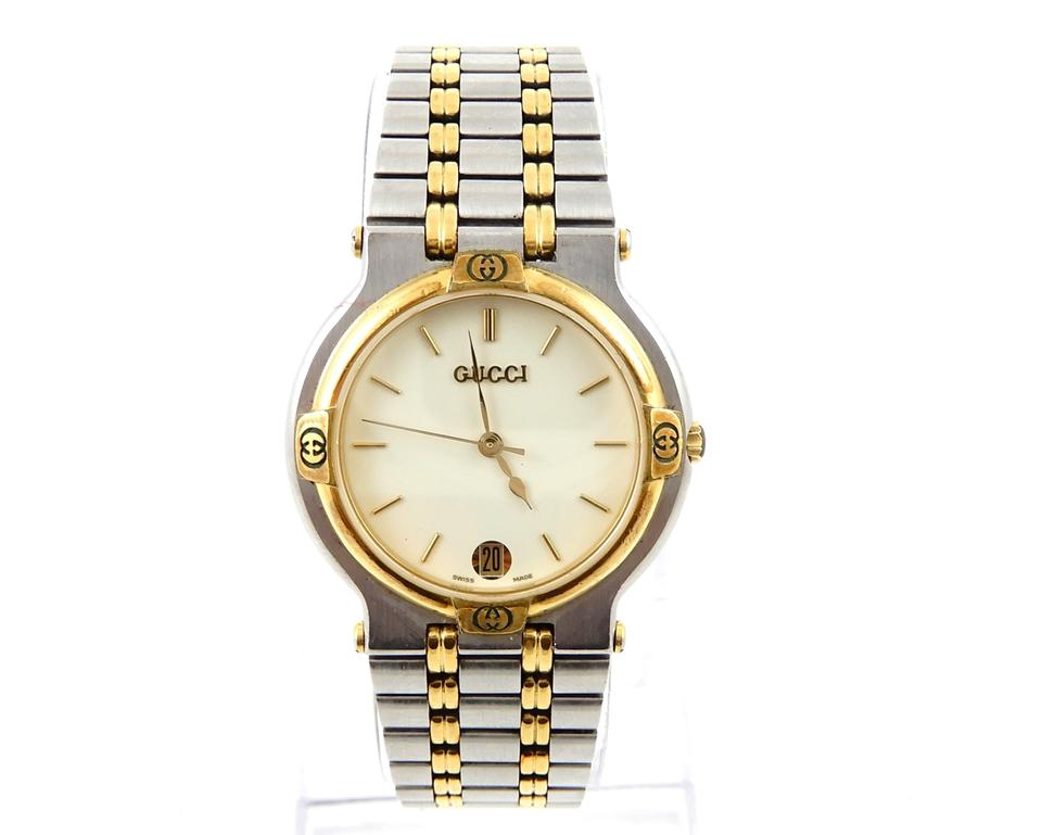 e6769c972cb Gucci Stainless Steel Vintage 900m Two-tone Watch - Tradesy