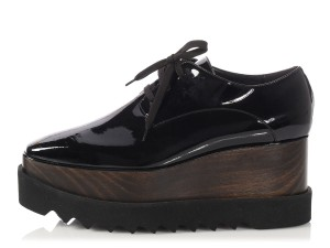 Stella McCartney Wood Chunky Sm.p0702.08 Vegan Black Platforms