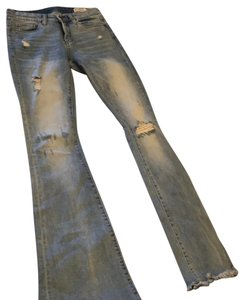 BlankNYC Flare Leg Jeans-Distressed