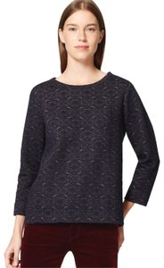 Ann Taylor LOFT Quilted Pajamas Metallic Comfy Relaxed Sweater