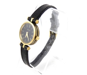 dc6d5d33065 Gucci Gold Stainless Steel Vintage 21mm Ribbon Roman Numeral Watch