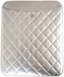 Chanel Chanel iPad / Tablet Silver Quilted Case