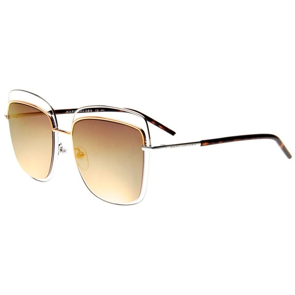 a0516e138e7 Marc Jacobs NEW Marc Jacobs 9 S Gold Mirrored Square Wired Sunglasses Image  0 ...