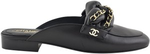 Chanel Lambskin Leather Ballerina Ballet Slide black Flats