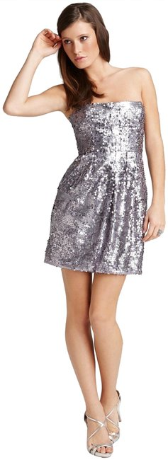 BCBGMAXAZRIA Lilac-mist Allover Sequin Strapless Bodycon Style No. Fjc6p494 Short Formal Dress Size 6 (S) BCBGMAXAZRIA Lilac-mist Allover Sequin Strapless Bodycon Style No. Fjc6p494 Short Formal Dress Size 6 (S) Image 1