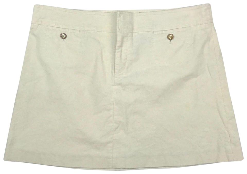 15a24550ce Lilly Pulitzer White Women Corduroy Ivory Skirt Size 12 (L, 32, 33 ...