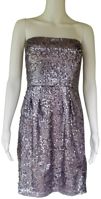 Item - Lilac Bcbg Max Azria Carole Sequin Strapless Short Night Out Dress Size 8 (M)