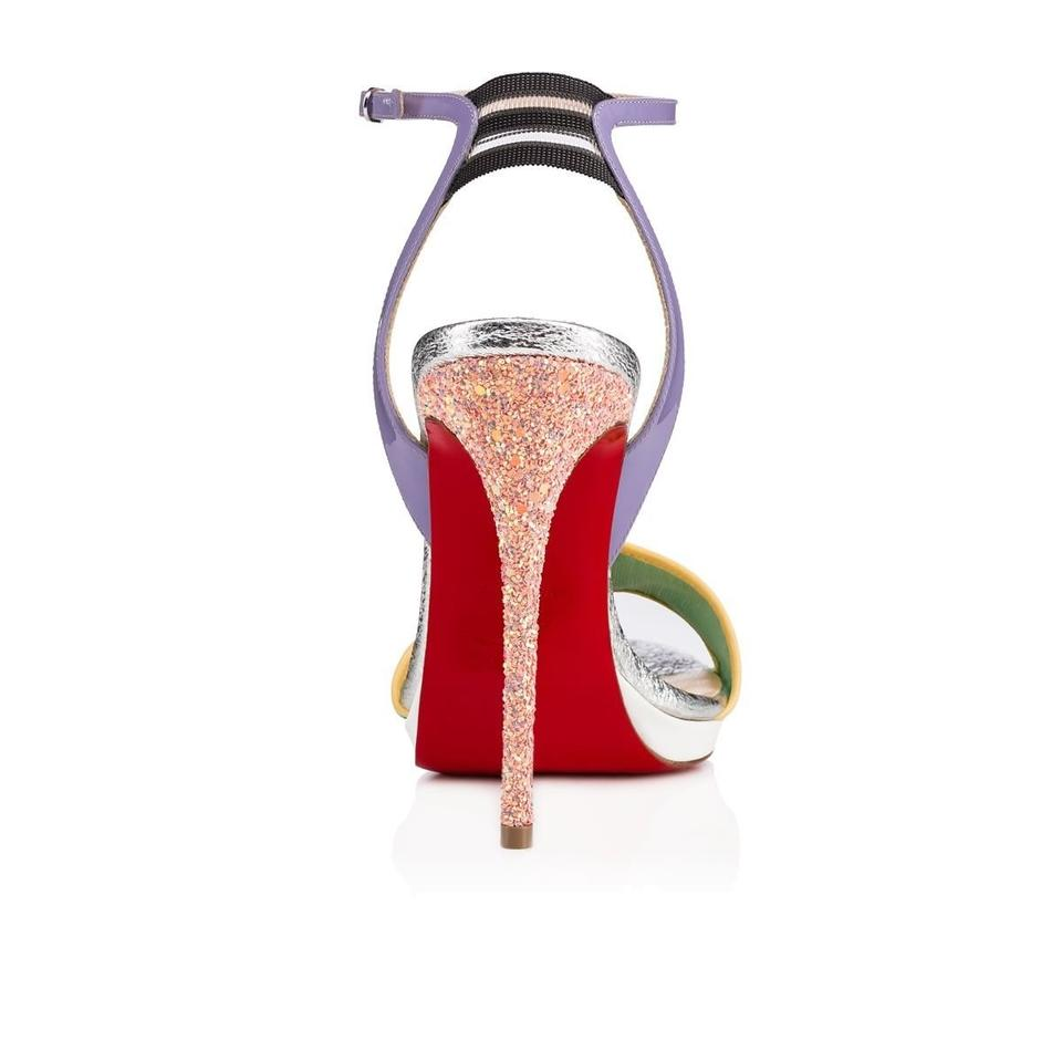 Ankle Blue Sandal Opal Discoport Pumps Heel Dragonfly Strap Glitter Louboutin 120 Christian RS50qw