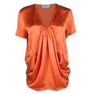 Saint Laurent Silk Top Orange