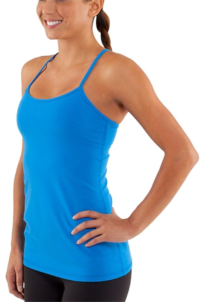 67bfcc4a152a8 Lululemon Blue Power Y Activewear Top Size 6 (S) - Tradesy