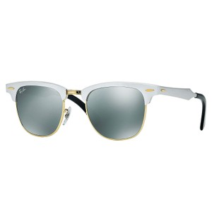 Ray-Ban Ray-Ban Clubmaster Aluminum Sunglasses Silver 49mm RB3507