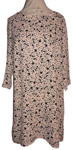 Basically Me short dress Pale Pink, Black, White Spotted 3/4 Sleeve Tunic on Tradesy