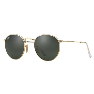 Ray-Ban Ray-Ban Round Metal Sunglasses Gold/ Green Classic 50mm RB3447