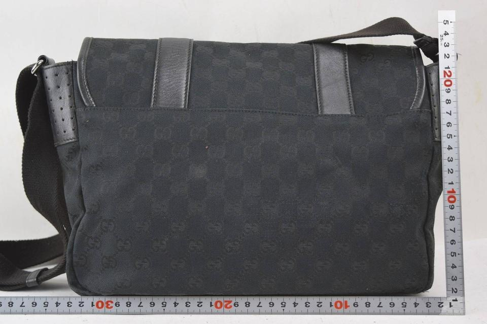fdd60090d Gucci Messenger Monogram Flap 867312 Black Coated Canvas Cross Body Bag -  Tradesy