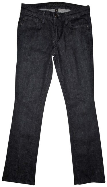Item - Dark Blue Rinse Stretchy Low-rise Boot Cut Jeans Size 26 (2, XS)