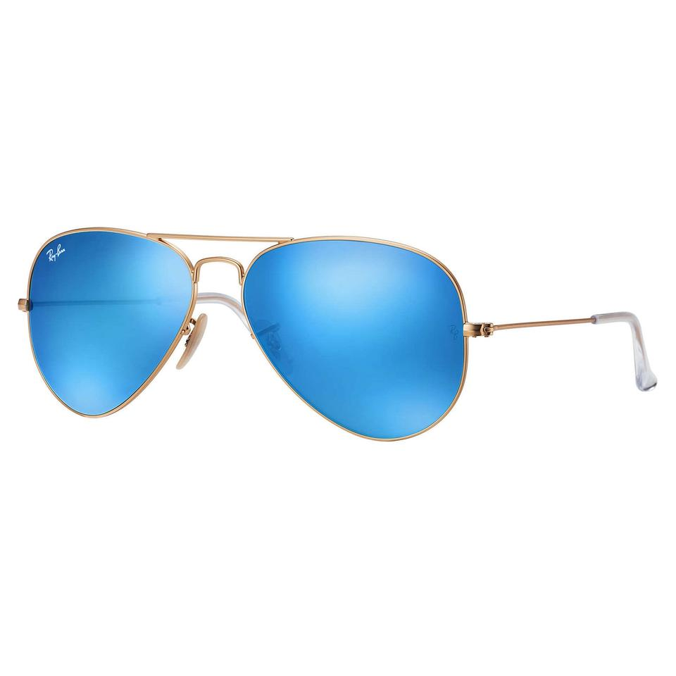 82b4579f2a1535 Ray-Ban Ray-Ban Aviator Flash Lenses Sunglasses Gold  Blue 58mm RB3025 ...
