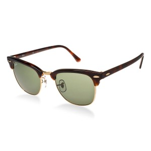 Ray-Ban Ray-Ban Clubmaster Classic Sunglasses Tortoise/ Green 49mm RB3016