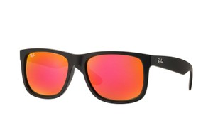 Ray-Ban Ray-Ban Black/Orange Sunglasses 55mm RB4165
