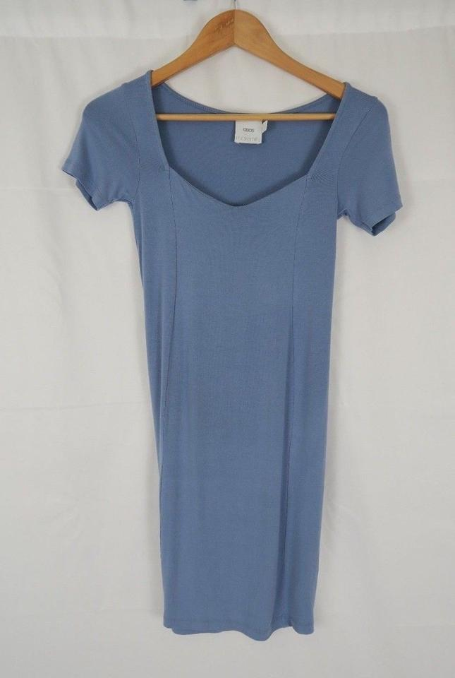 2ee72bed3be9 ASOS Blue Mini Bodycon with Sweetheart Neck Maternity Dress Size 2 ...
